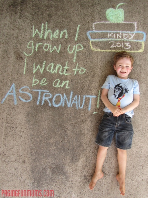 When I grow up I want to be an astronaut