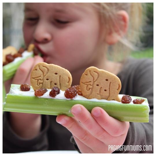 Healthy After-School Snack Celery Sticks - YUMMY