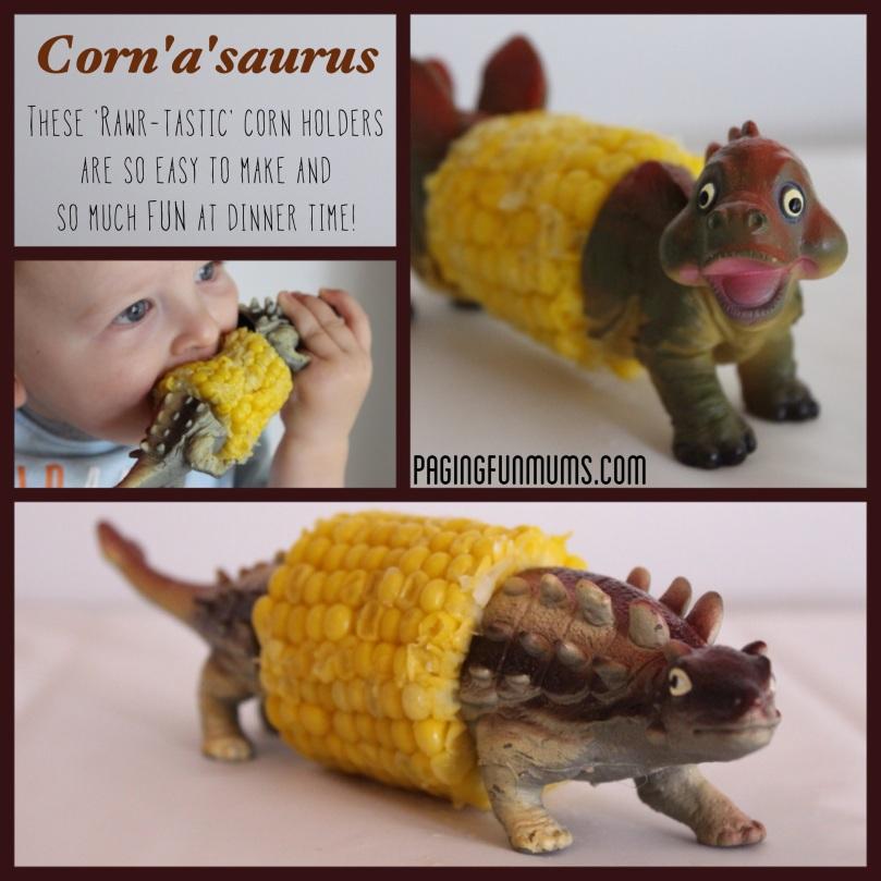 DIY Dinosaur Corn Cobb Holder
